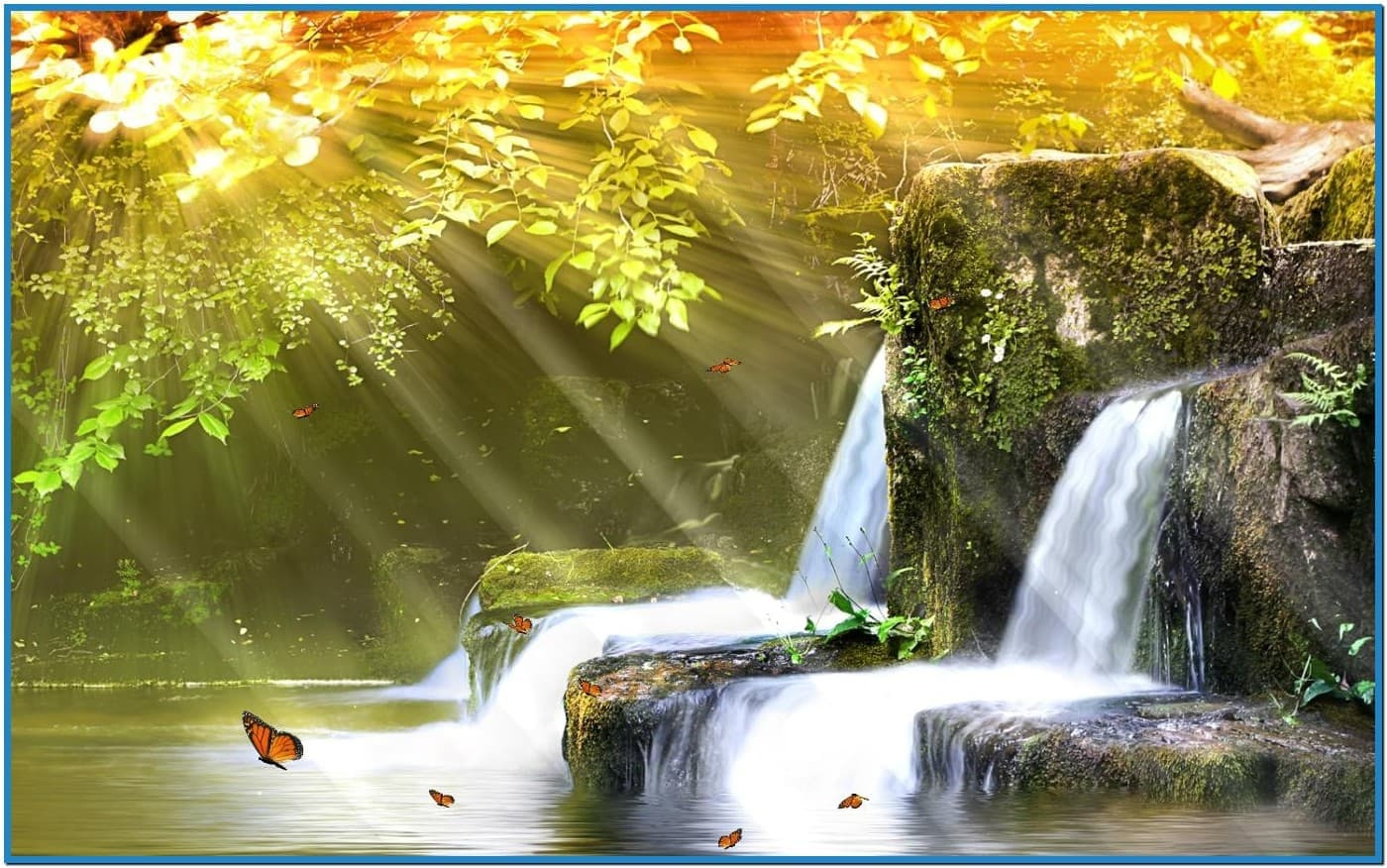 Best animated waterfall screensaver   Download 1400x876
