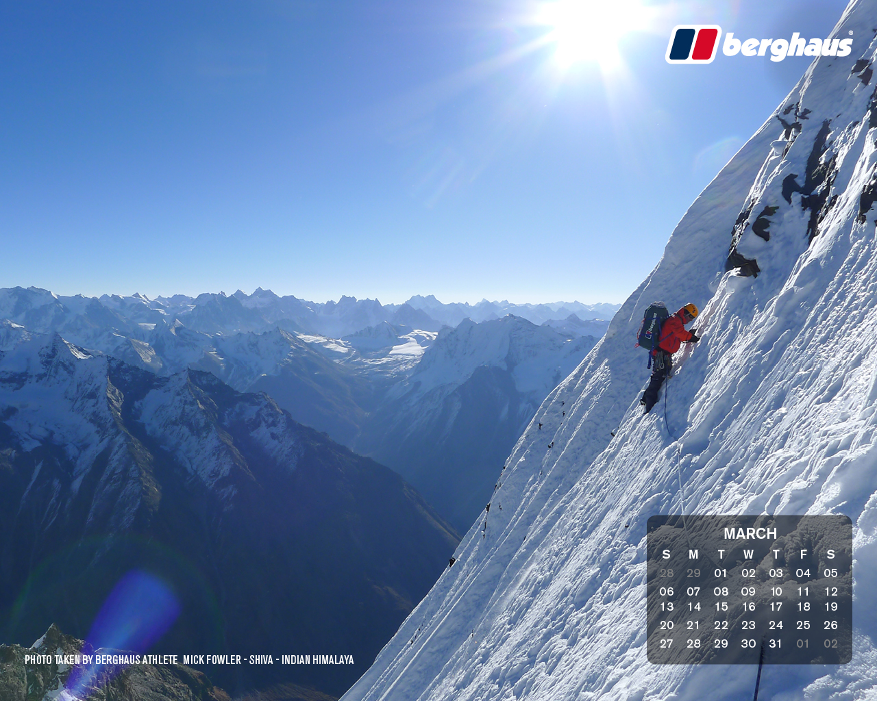 March 2016   Desktop Wallpaper Calendar 1280x1024