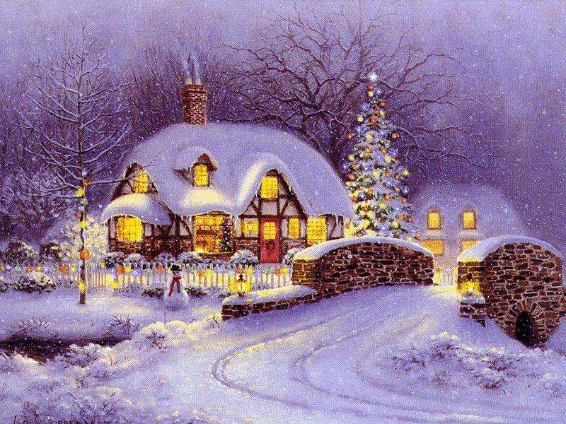 Christmas Dreams Wallpaper   Christmas Landscapes Wallpaper Image 800x600