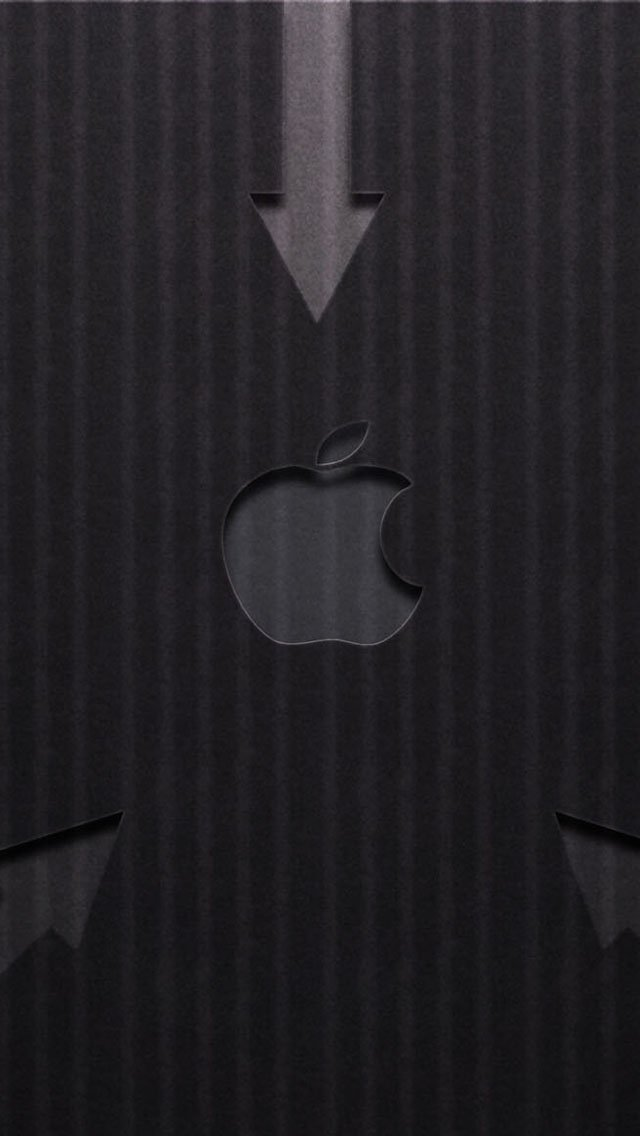 iPhone 5 wallpapers HD   Arrow gray Apple LOGO Backgrounds 640x1136
