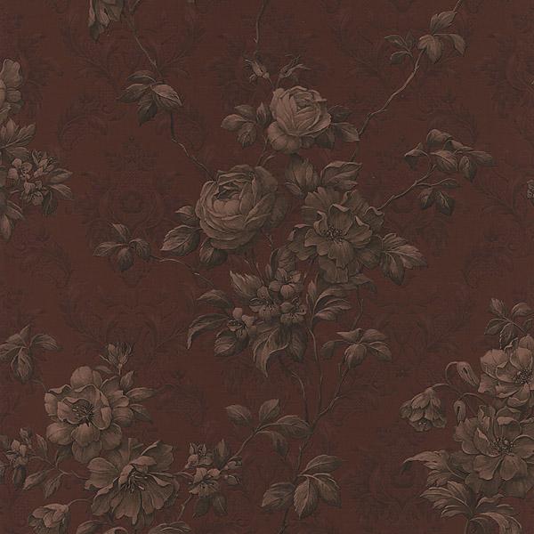 988 58658 Burgundy Floral Damask   Mirabelle   Mirage Wallpaper 600x600