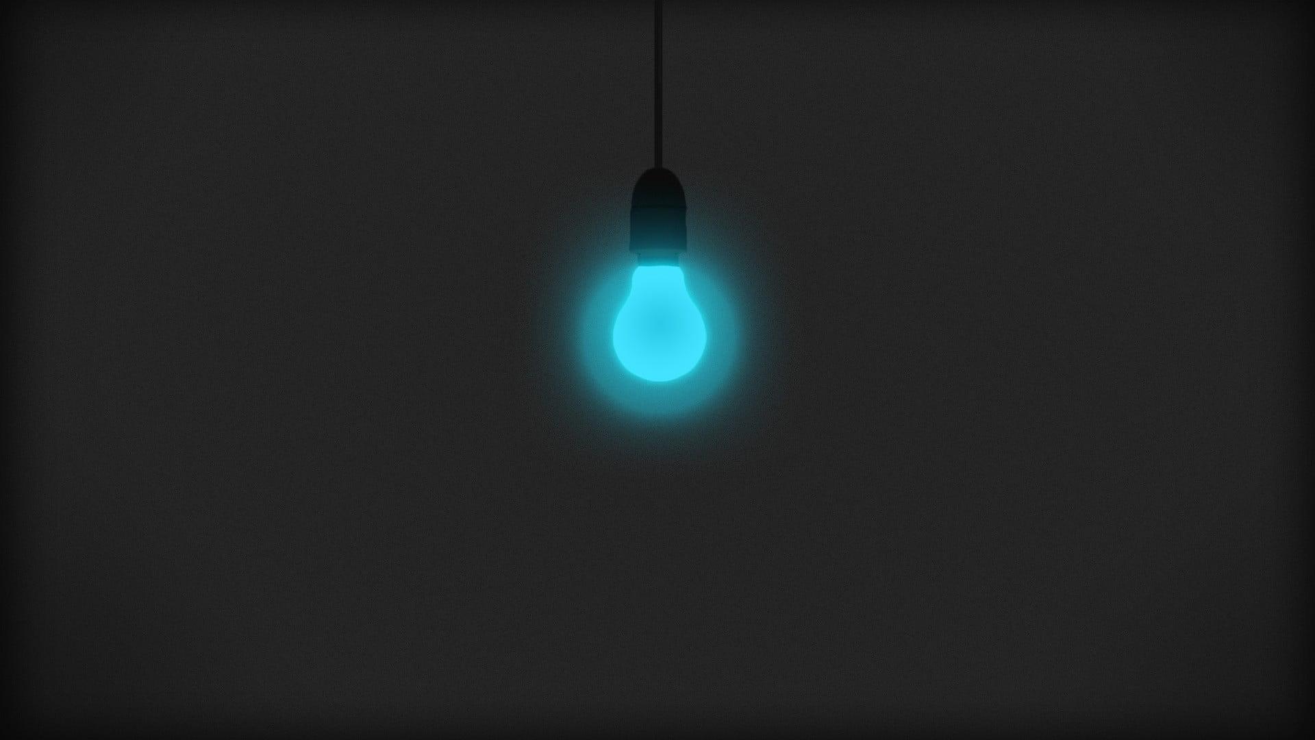 Incandescent light bulb minimalism lights HD wallpaper 1920x1080