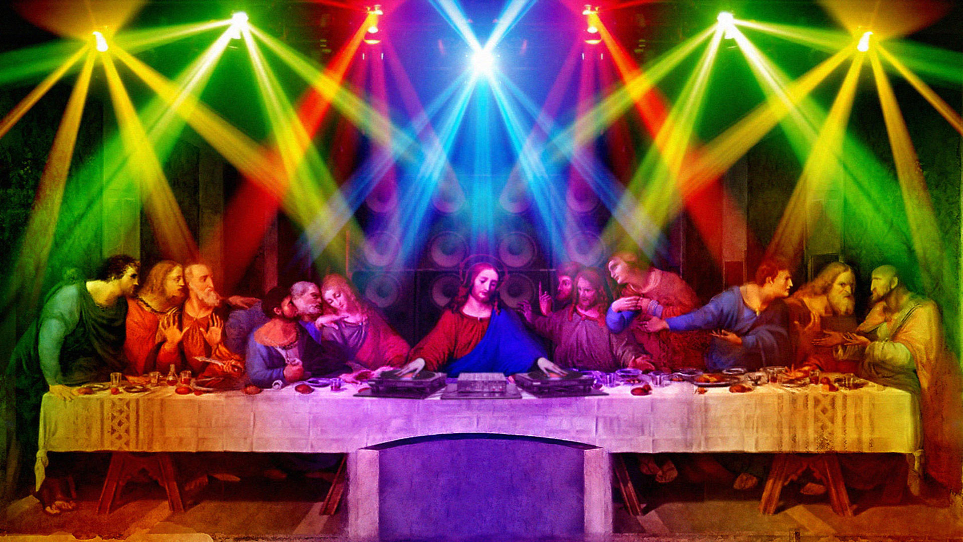 Last supper party wallpaper 14675 1920x1080
