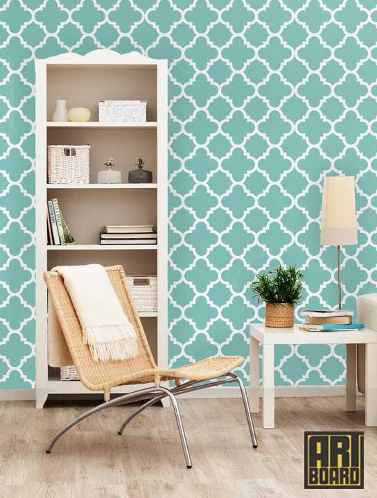 Quatrefoil   self adhesive DIY wallpaper home decor interior wall 544x718