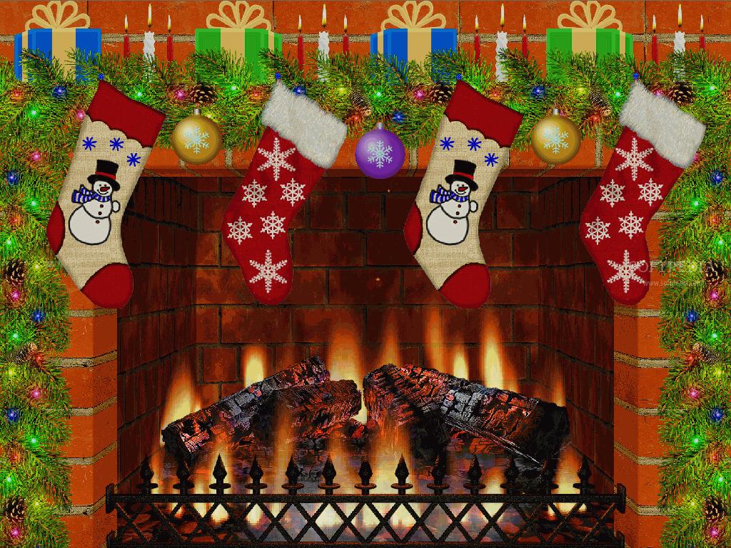 Fotos   Christmas Fireplace 1024x769