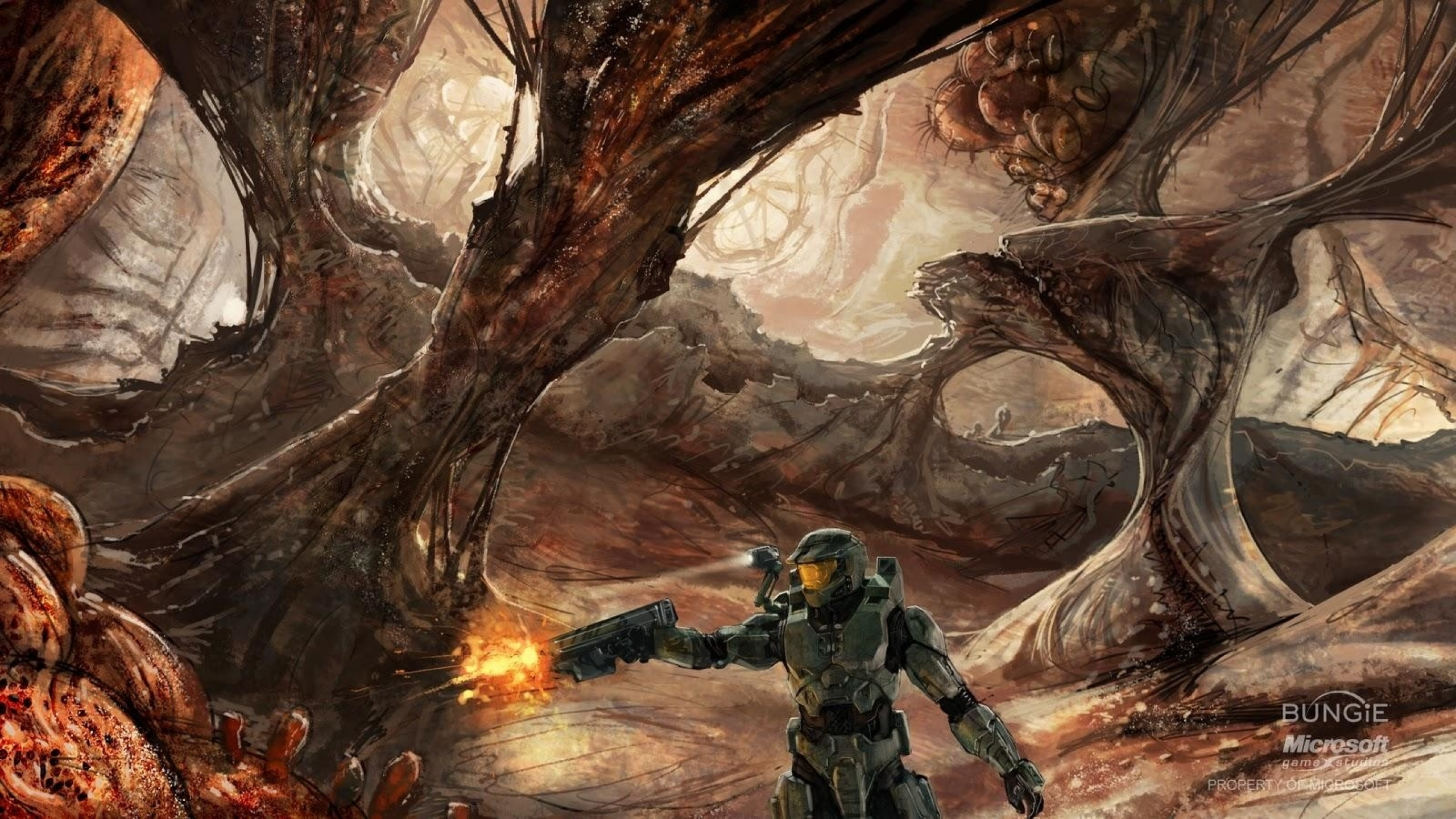 Wallpapers Download 2560x1440 video games halo master chief concept 2560x1440