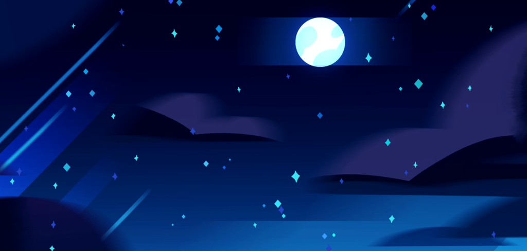 Steven Universe Night BackgroundFREE by Veronica Draws 1024x488
