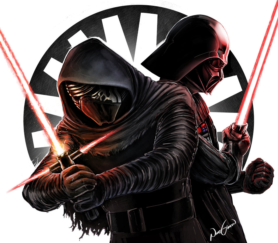 Kylo Ren V Darth Vader by NhtgkcN 956x836