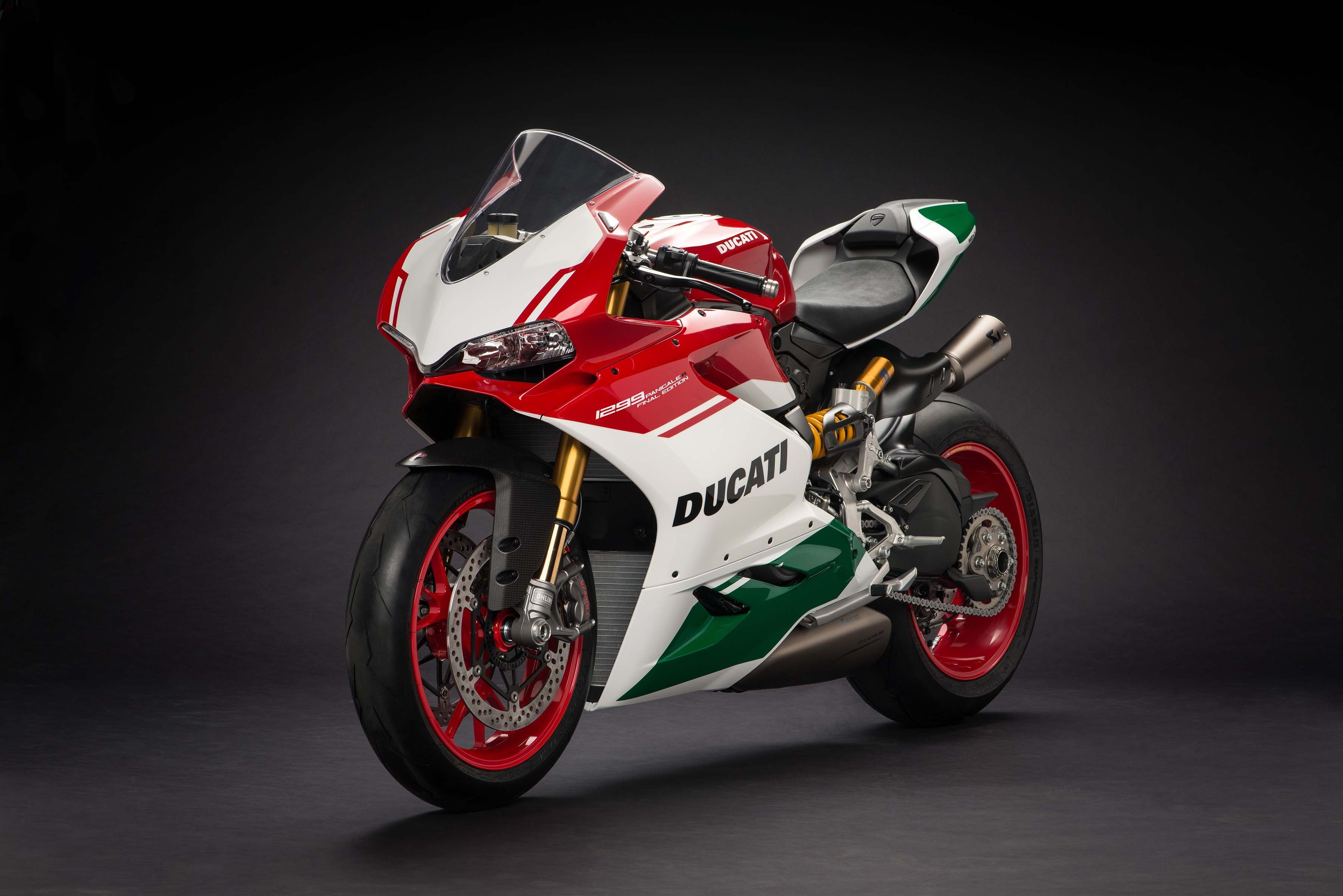 Red green and white Ducati sports bike HD wallpaper Wallpaper 3600x2403