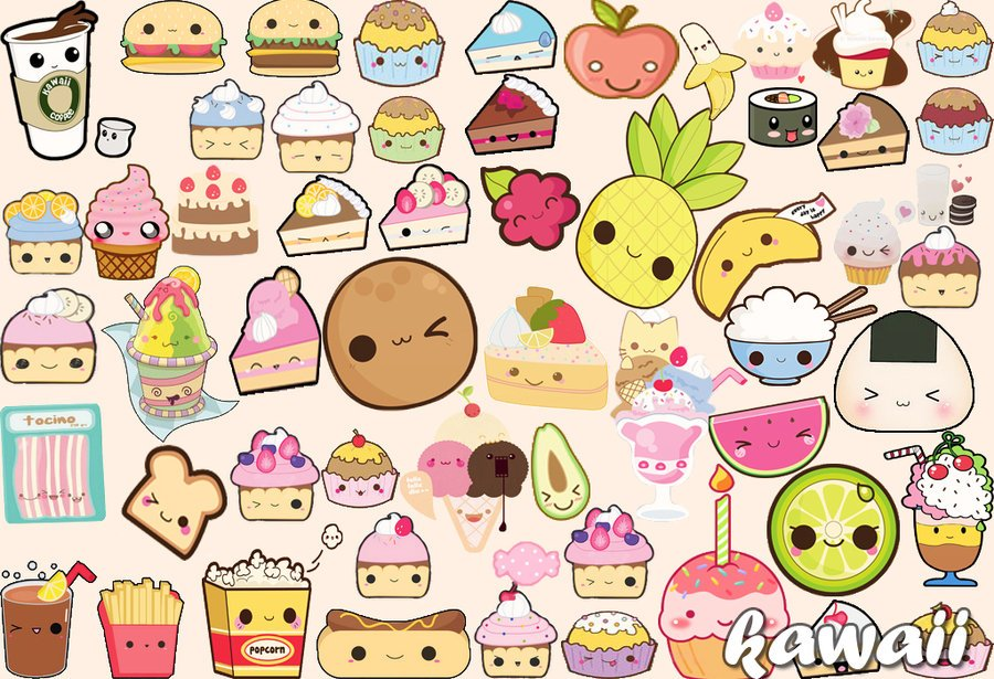 Kawaii Food Wallpaper  WallpaperSafari