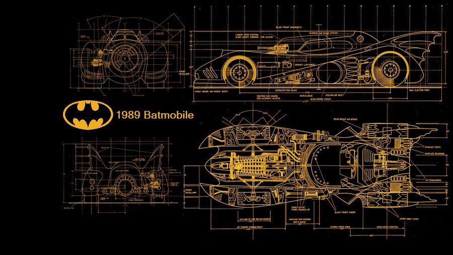 Batmobile 1989 Blueprints by kharec84 900x506
