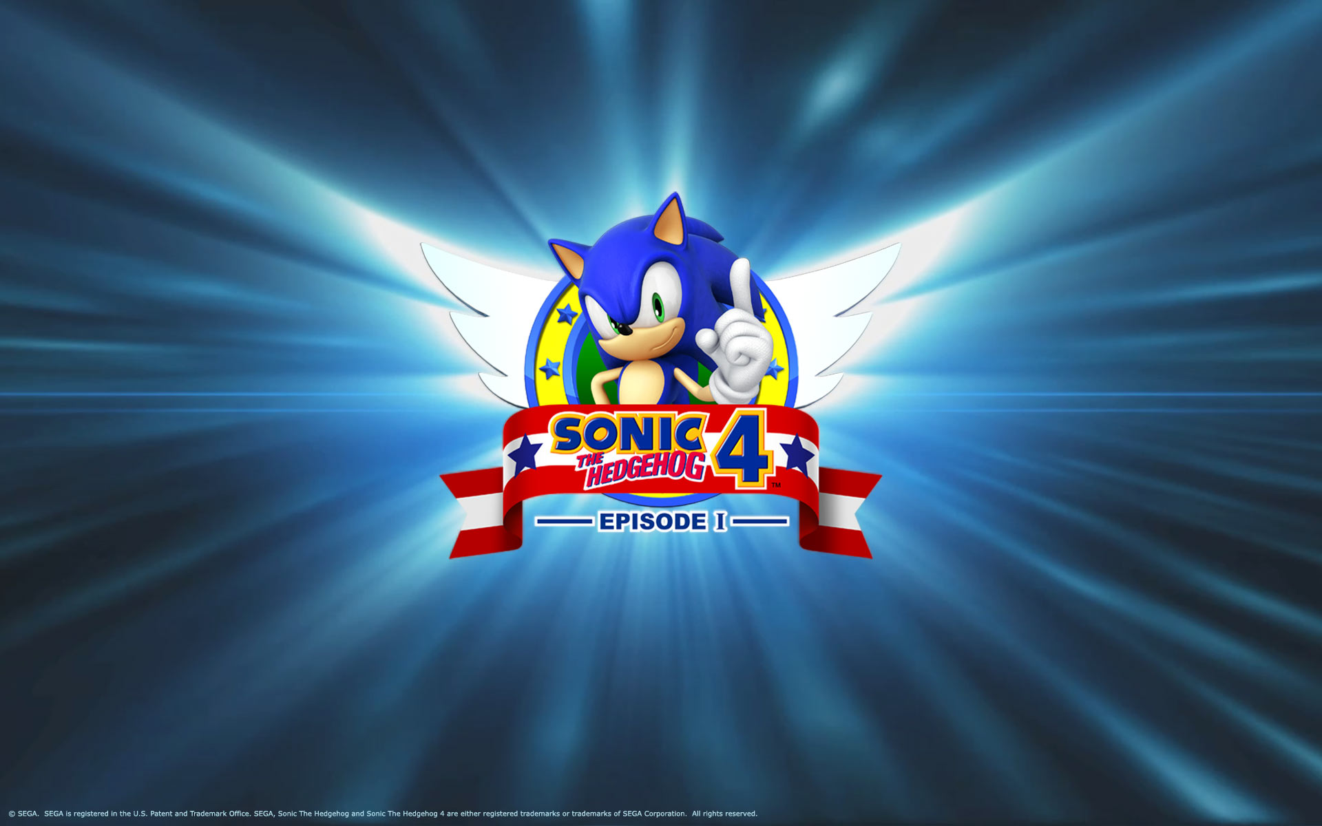 Sonic the Hedgehog 4 Episode I   Wallpaper   Sonic 4 Logo 1610 1920x1200