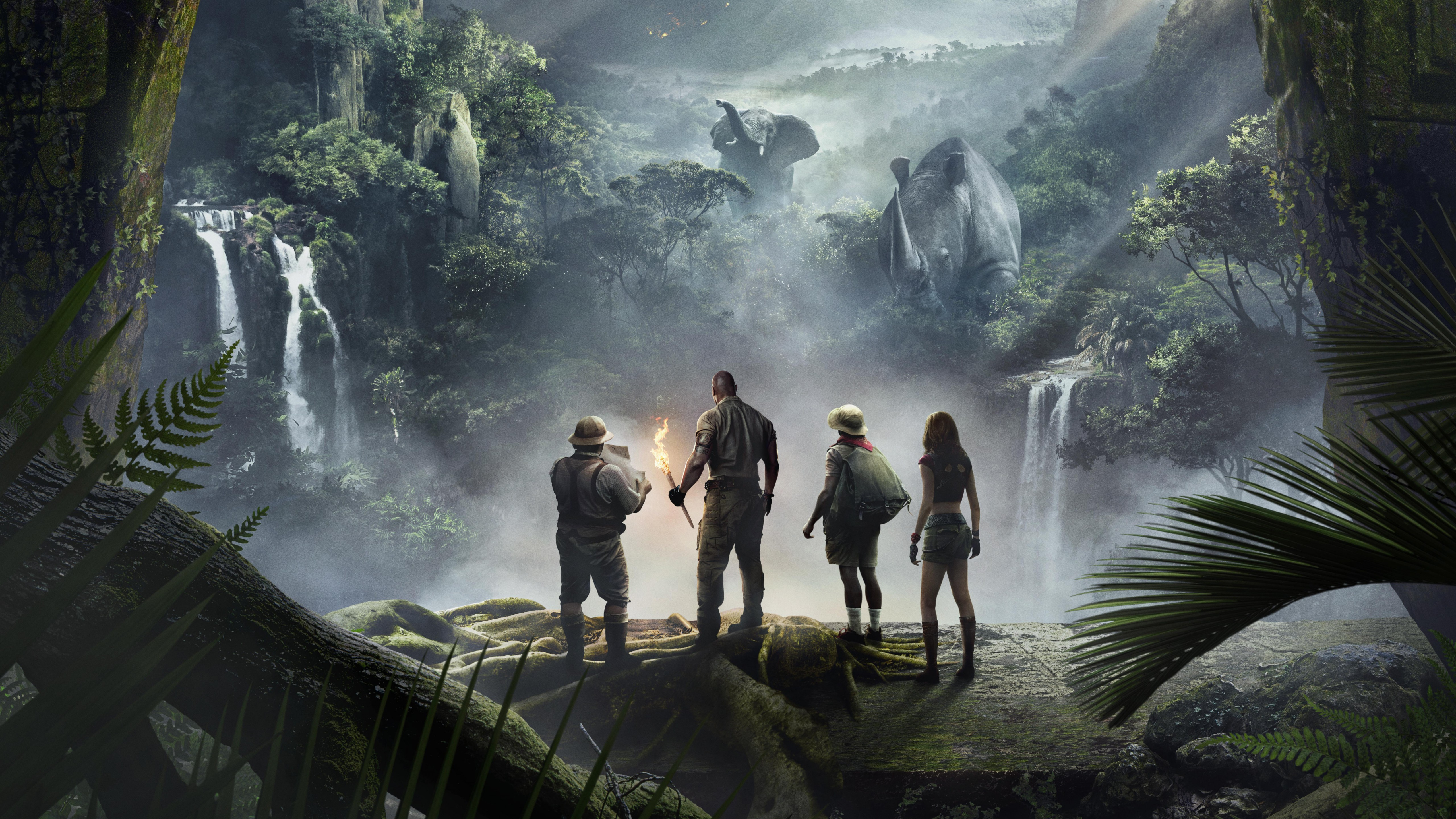 Jumanji Welcome to the Jungle 5k Retina Ultra HD Wallpaper 5120x2880