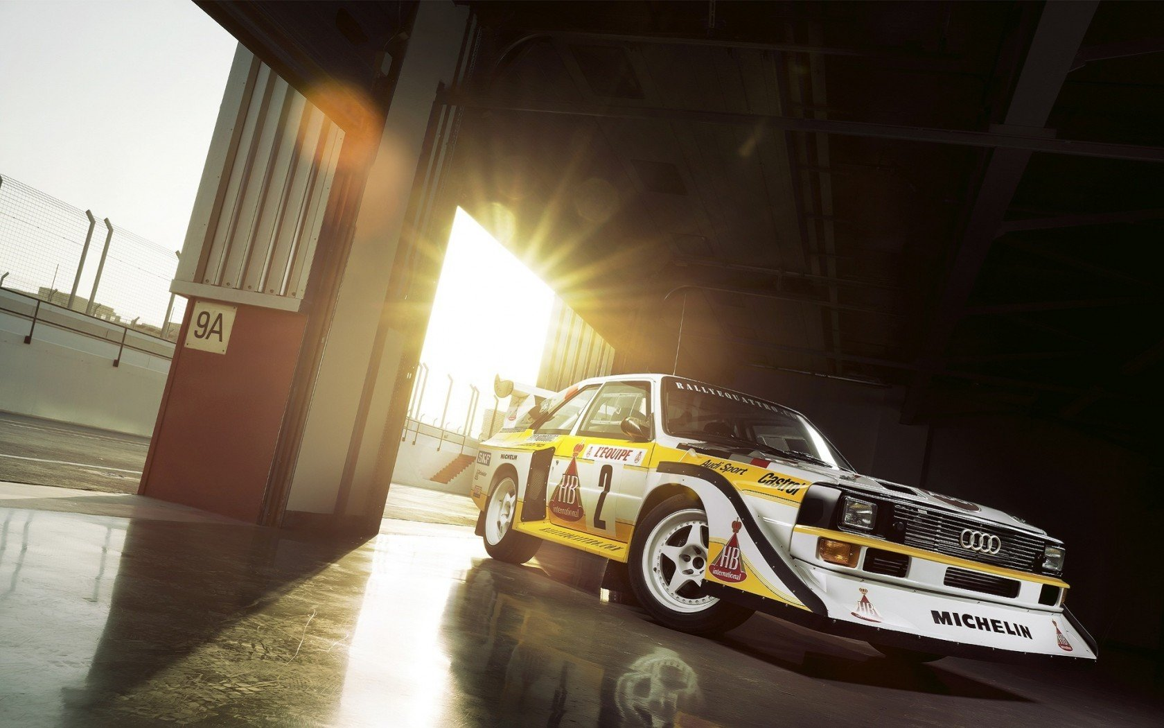 Audi Quattro S1 Rally Car Legend Group B wallpaper 1680x1050 1680x1050
