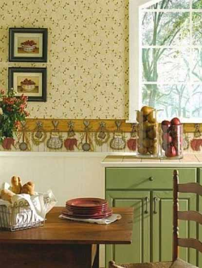 Colors Option for Country Kitchen Wallpaper Modern Kitchens 415x550