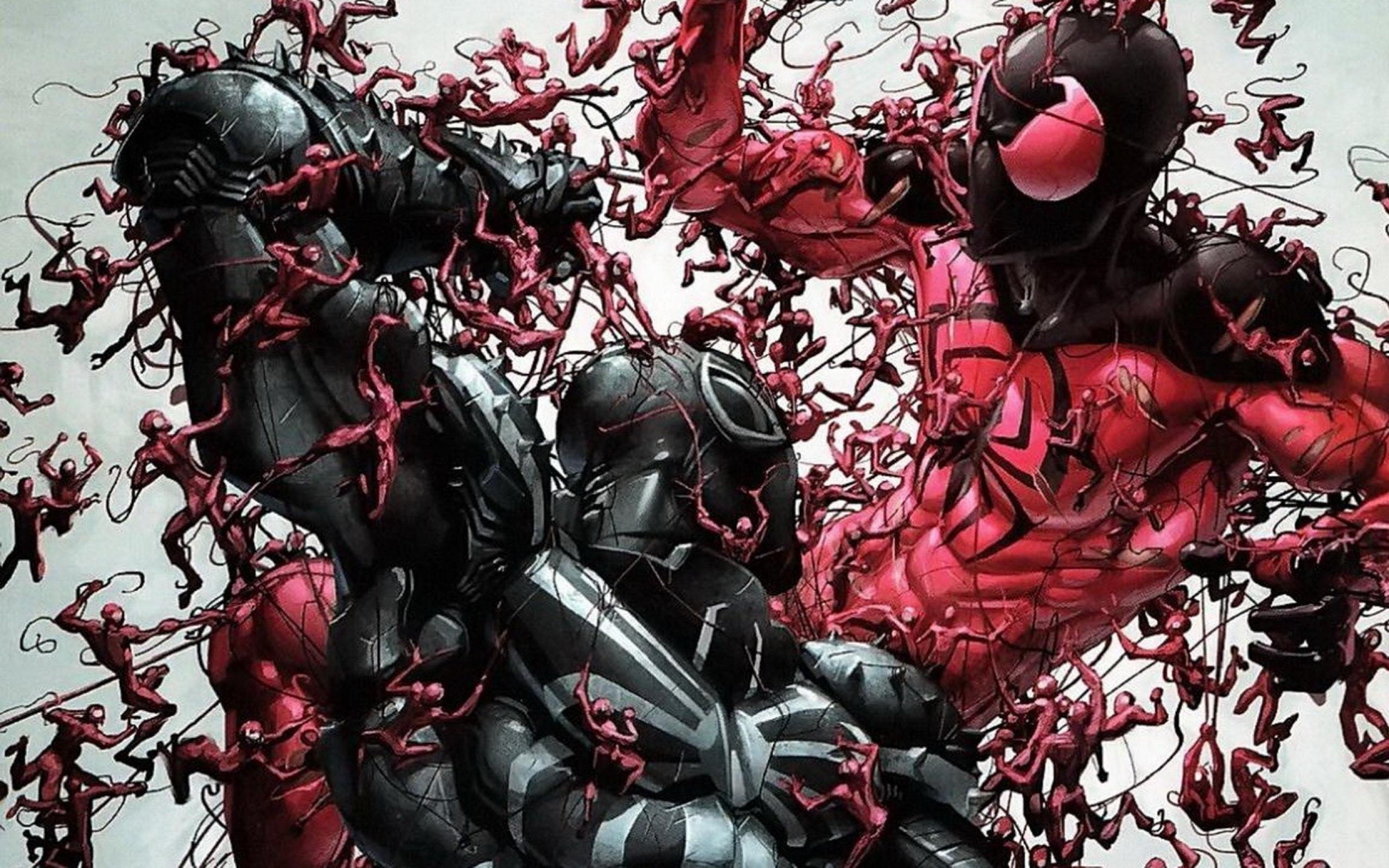 venom carnage marvel comics marvel scarlet spider 1920x1080 wallpaper 2560x1600