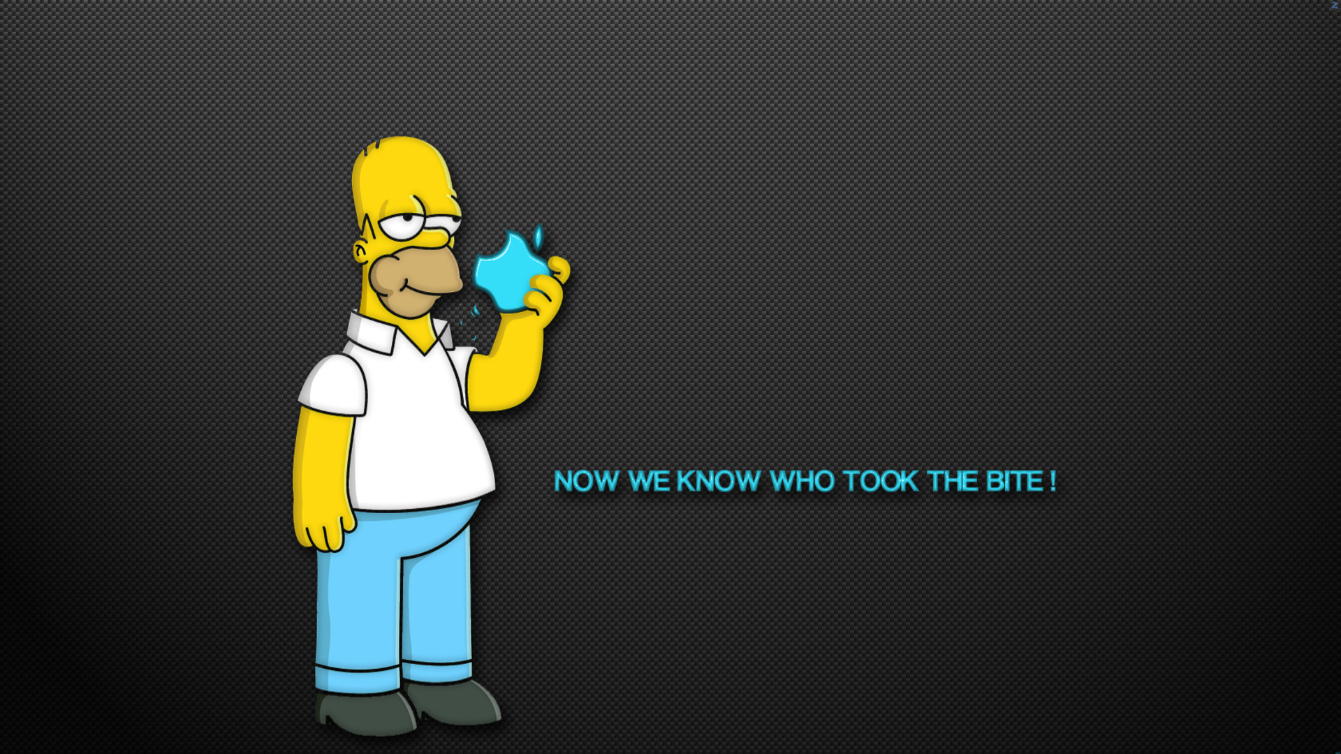 The Simpsons Homer Apple humor funny text quotes cartoon wallpaper 1920x1080