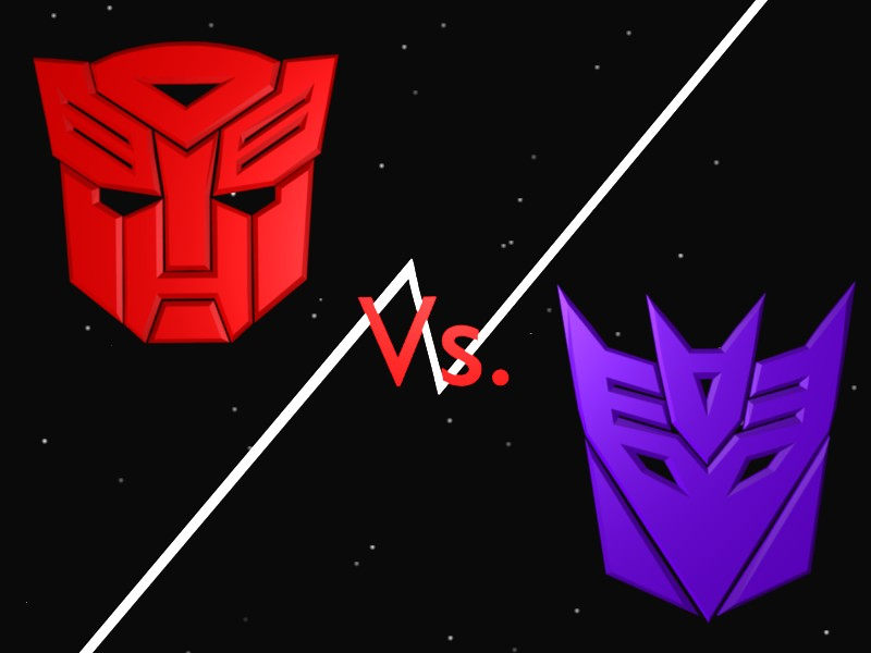 AutoBots vs Decepticons by Strell 800x600