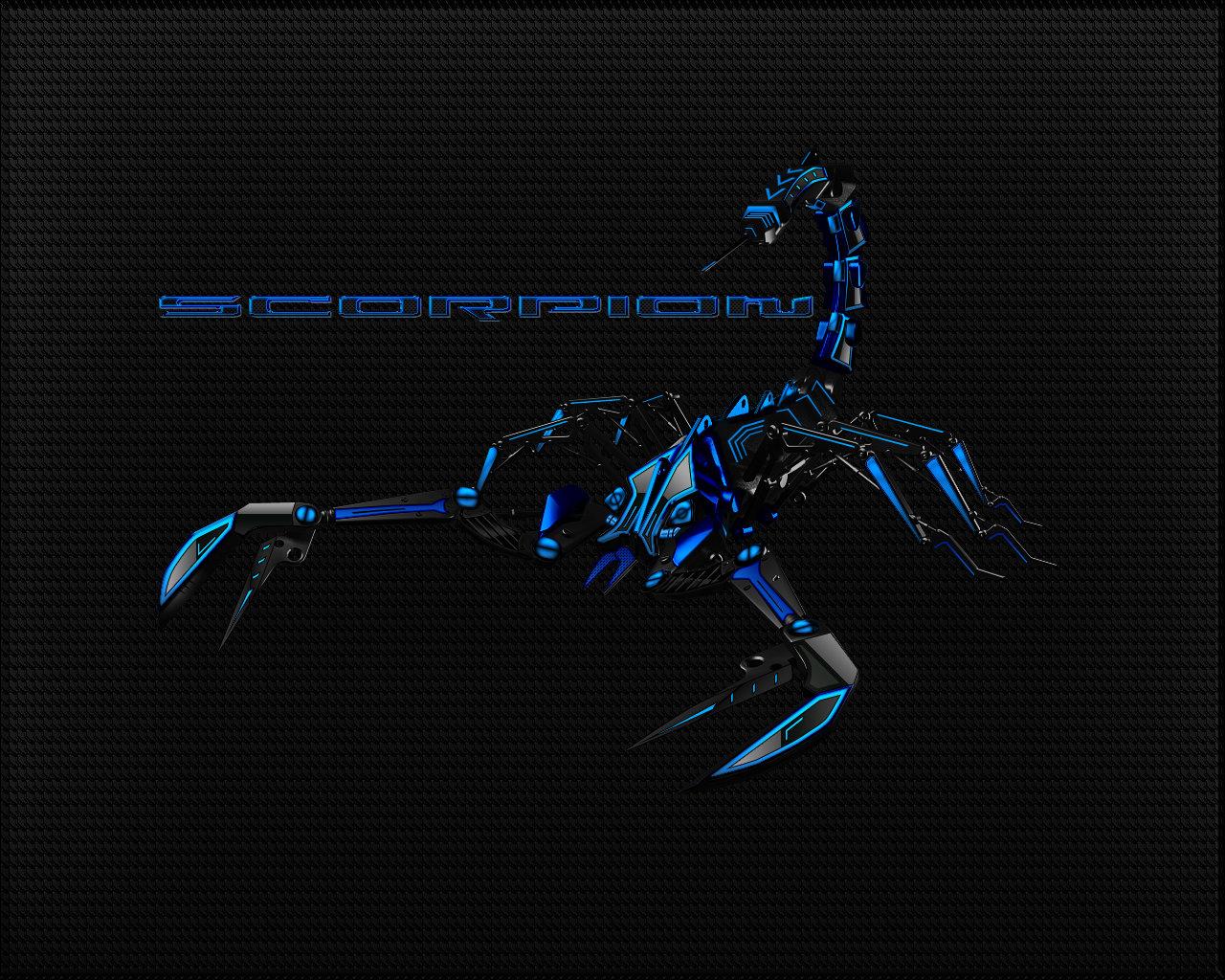Black Blue Scorpion Wallpaper by Micro31337 on deviantART 1280x1024