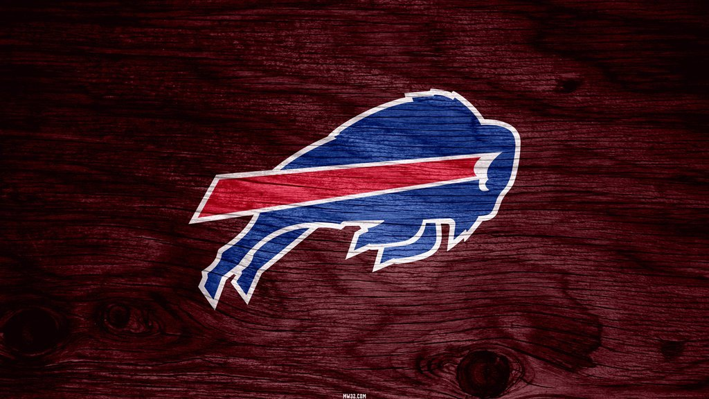 Buffalo Bills Red Weathered Wood Wallpaper for Phones and Tablets 1024x576
