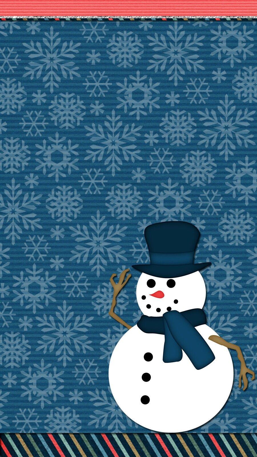 winter wallpaper iphone android cute SnowmenWallpaper 900x1600