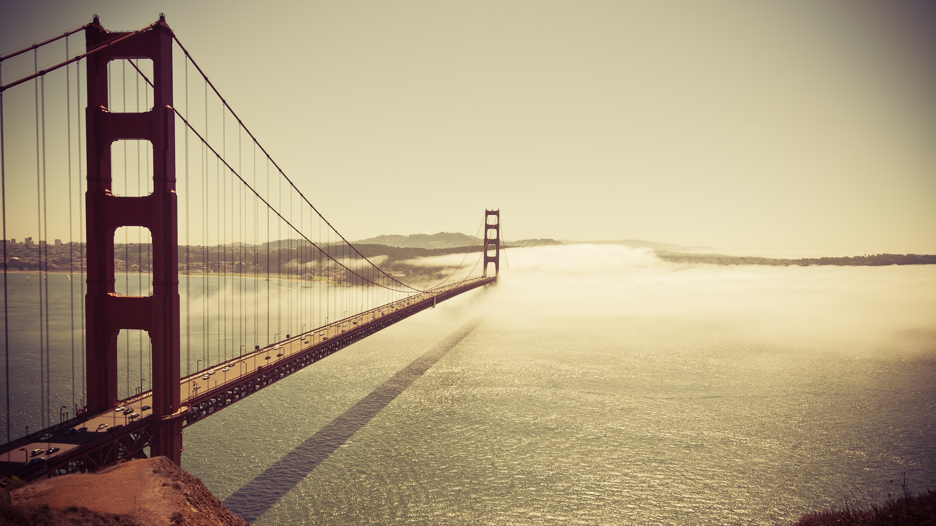 1920x1080 San francisco Bridge Sea Ocean Sky Wallpaper Background 1920x1080