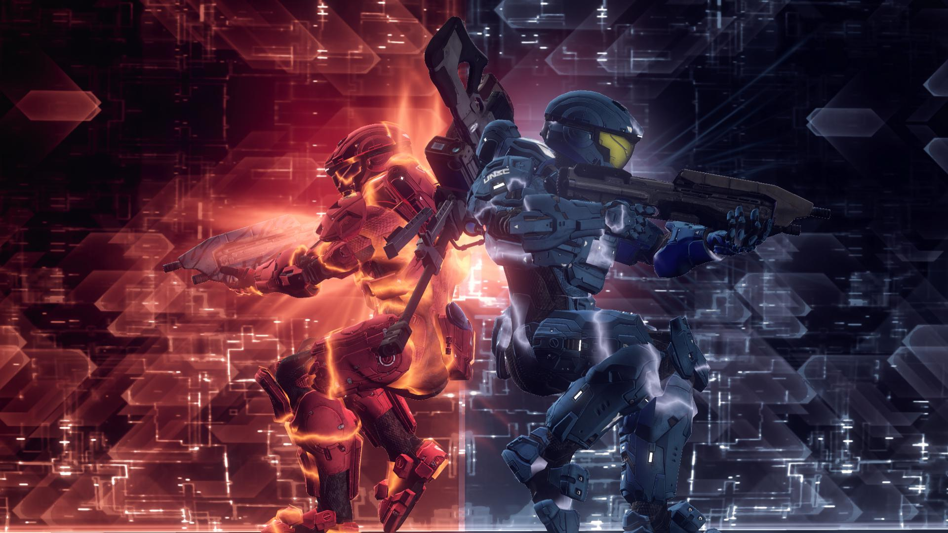 Free Download Red Vs Blue Wallpapers 1920x1080 For Your Desktop