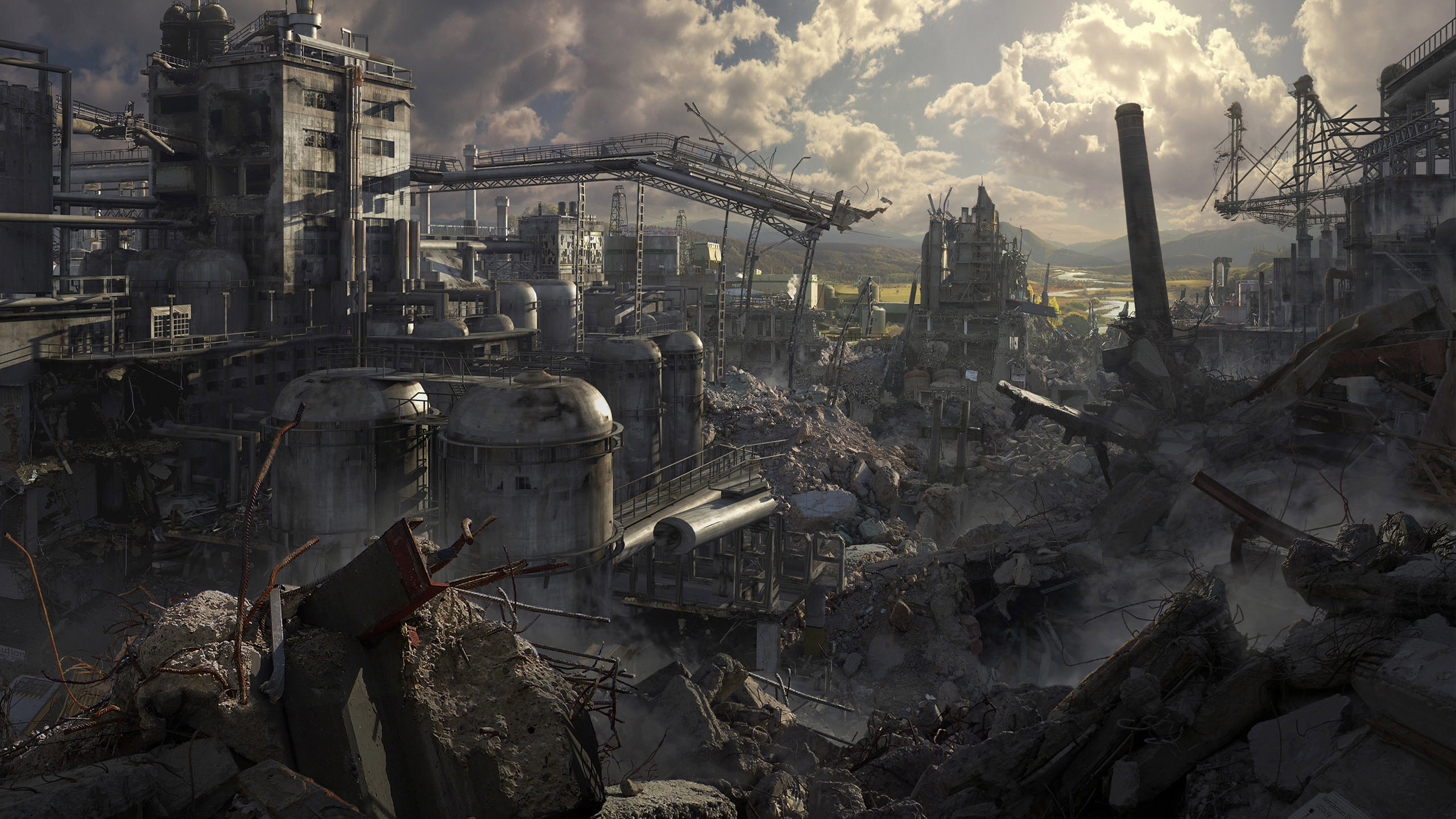 Ruins Post apocalyptic Wallpaper 2560x1440 Ruins Postapocalyptic 2560x1440
