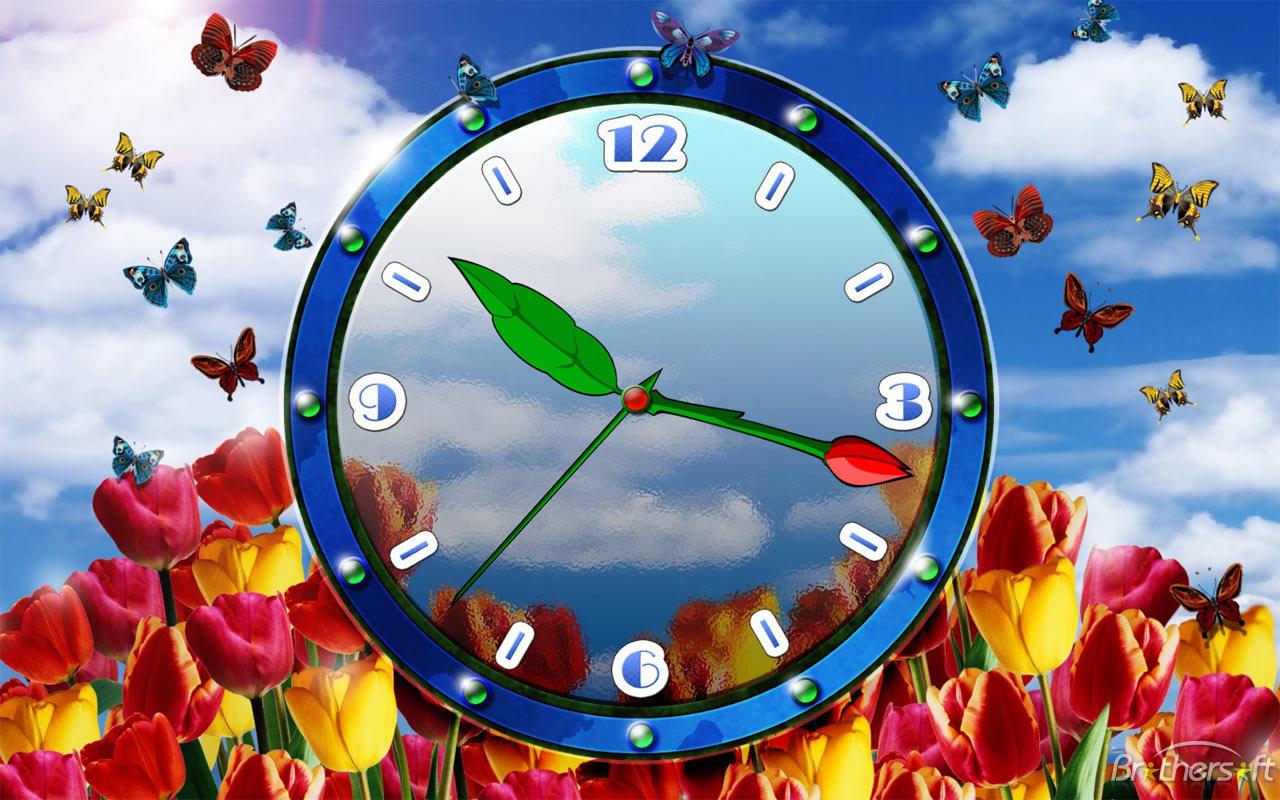 Digital Clock Wallpaper Download   Wallpaper HD Wide 1280x800