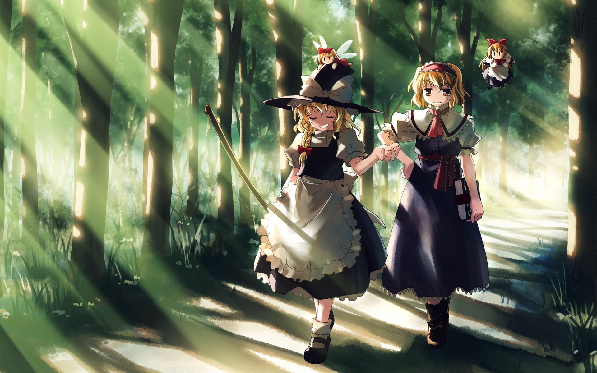 HD wallpaper Saigyouji Yuyuko Izayoi Sakuya Touhou Konpaku 1920x1200