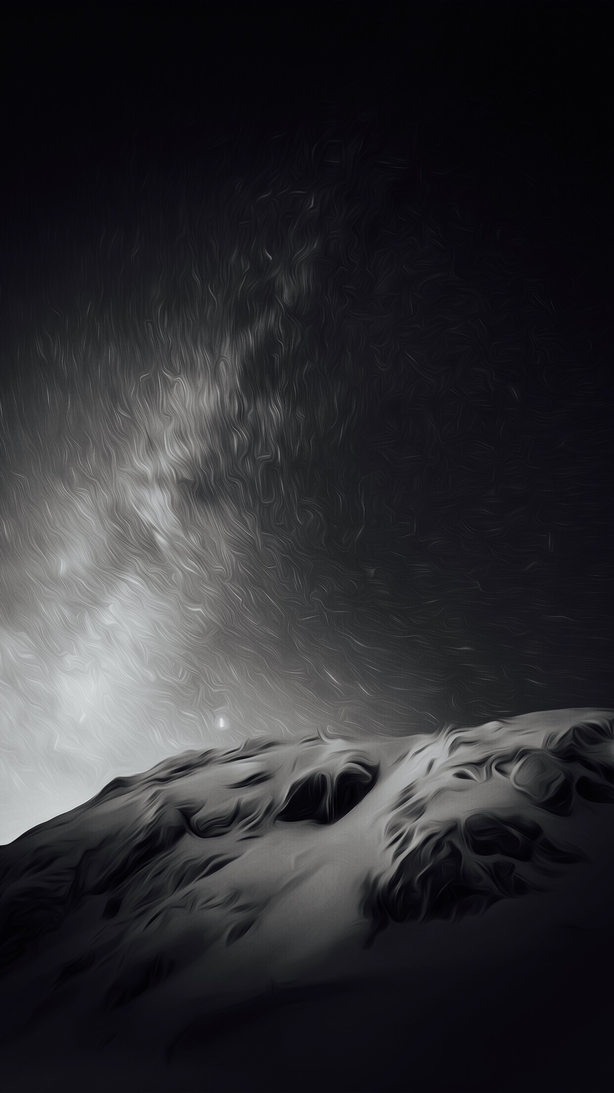 Black and white wallpapers for macOS and iOS 1242x2208