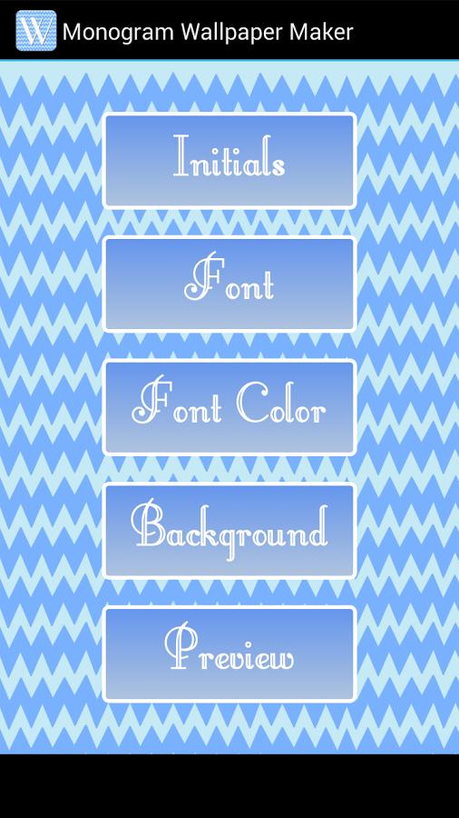 Monogram Wallpaper Maker APK by LTC Details 506x900