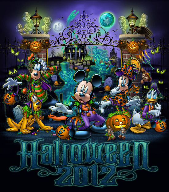 Disneyland and Walt Disney World Theme Parks Halloween 2012 logo 550x624