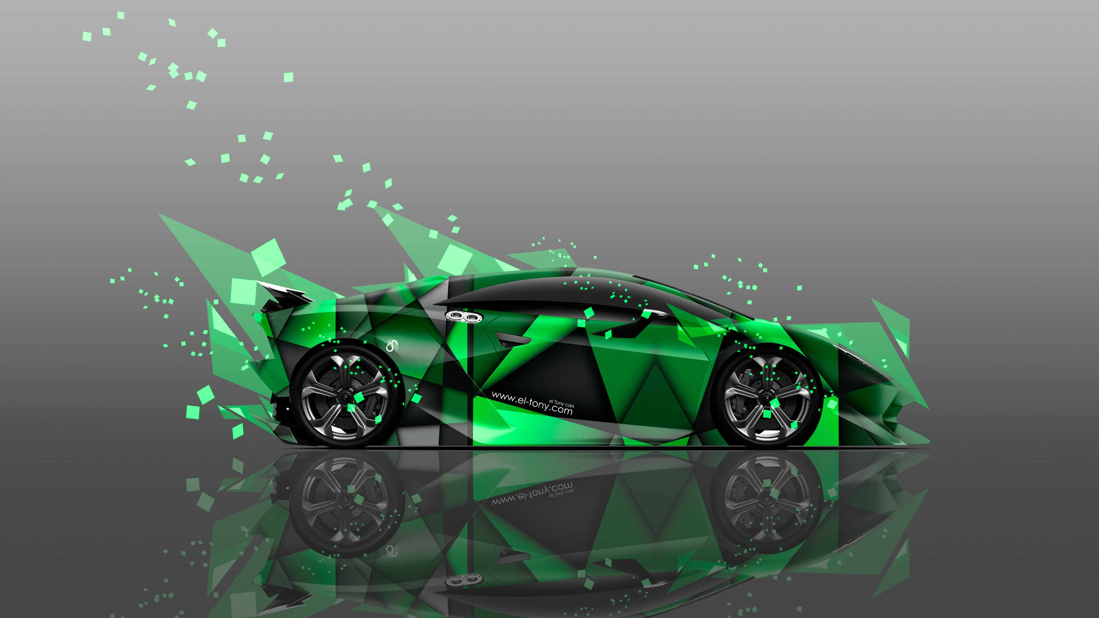 3840x2160 4k Fantasy Fly Flowers Girl Mix Lamborghini Sesto Elemento 2015  4k .