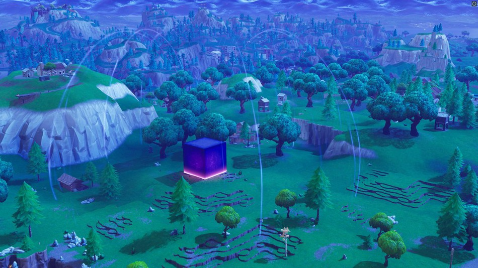 Fortnite fans are going wild after the big purple cube disappeared 950x534