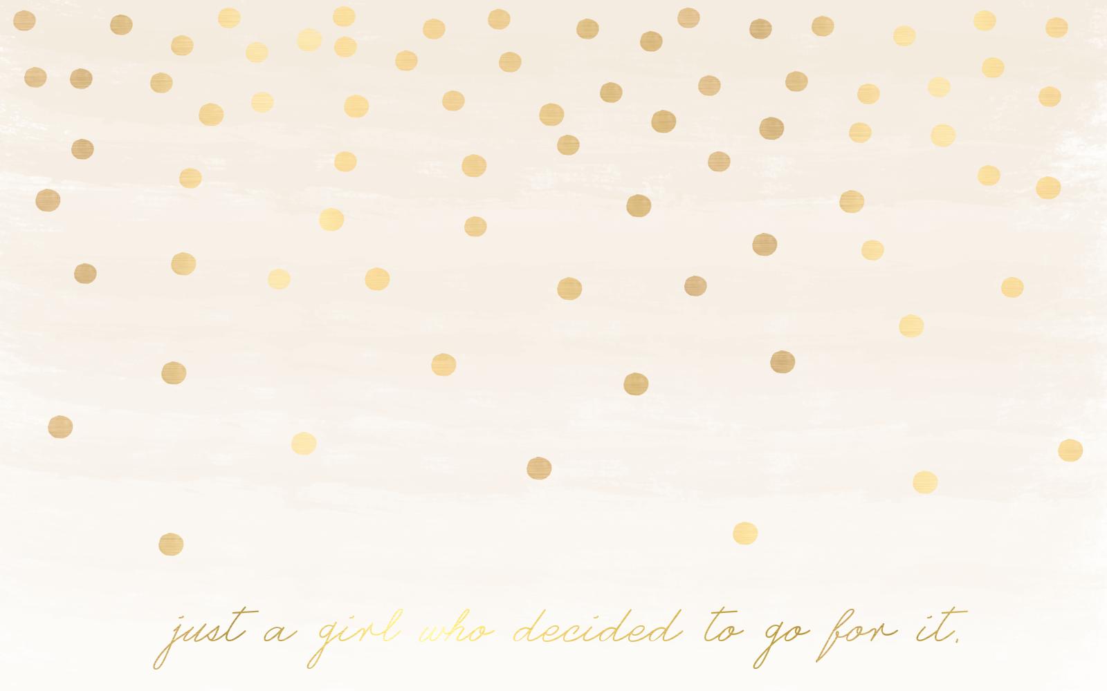 Gold Dot Wallpaper - W...