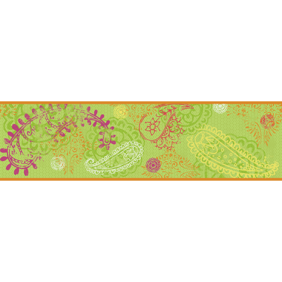 Wallcoverings 675 in Lime Prepasted Wallpaper Border at Lowescom 900x900