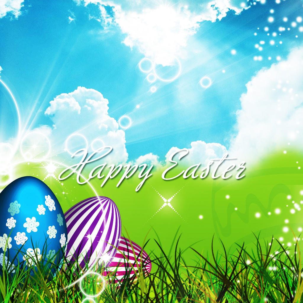 Download Wallpapers Happy Easter Simple Wallpaper 1024x1024