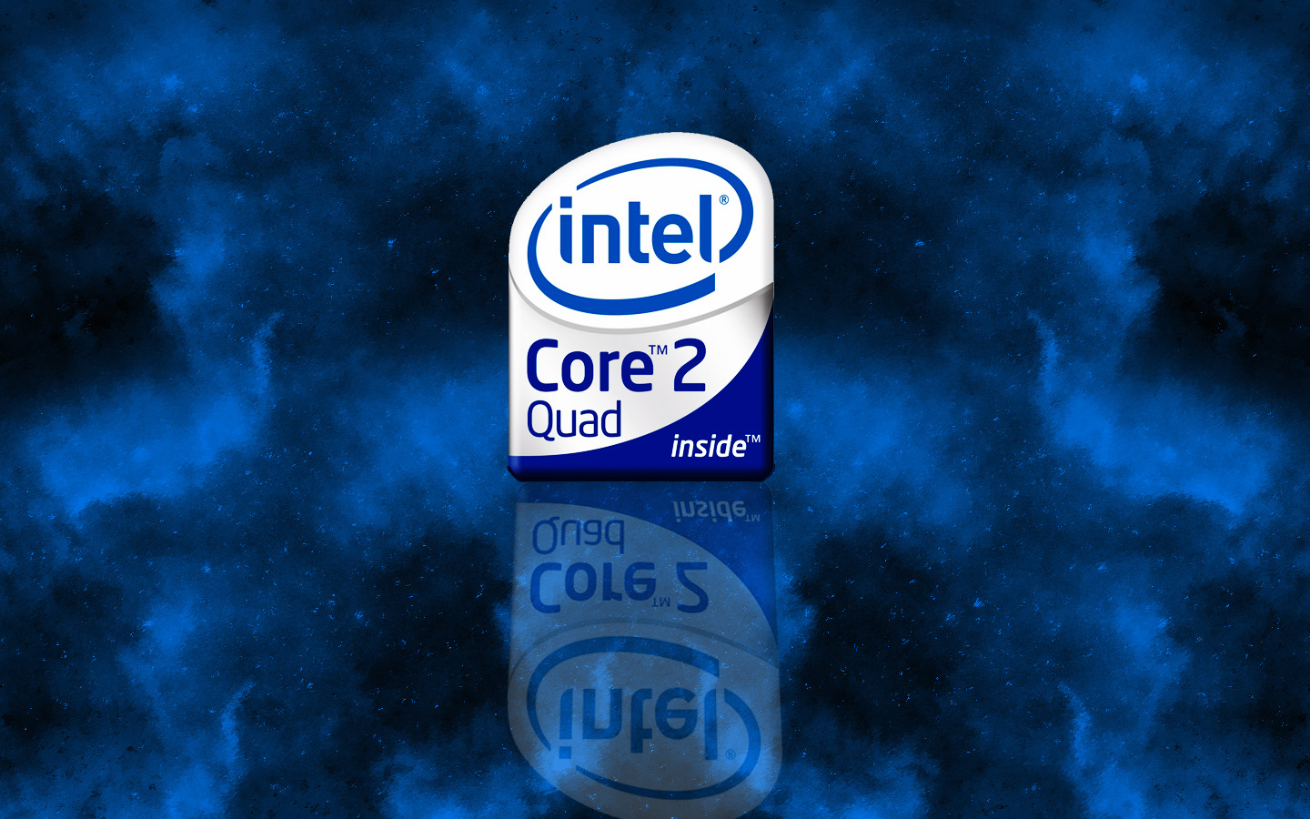 Intel C2Q Wallpaper Logo by Anth0789   Desktop Wallpaper 1440x900