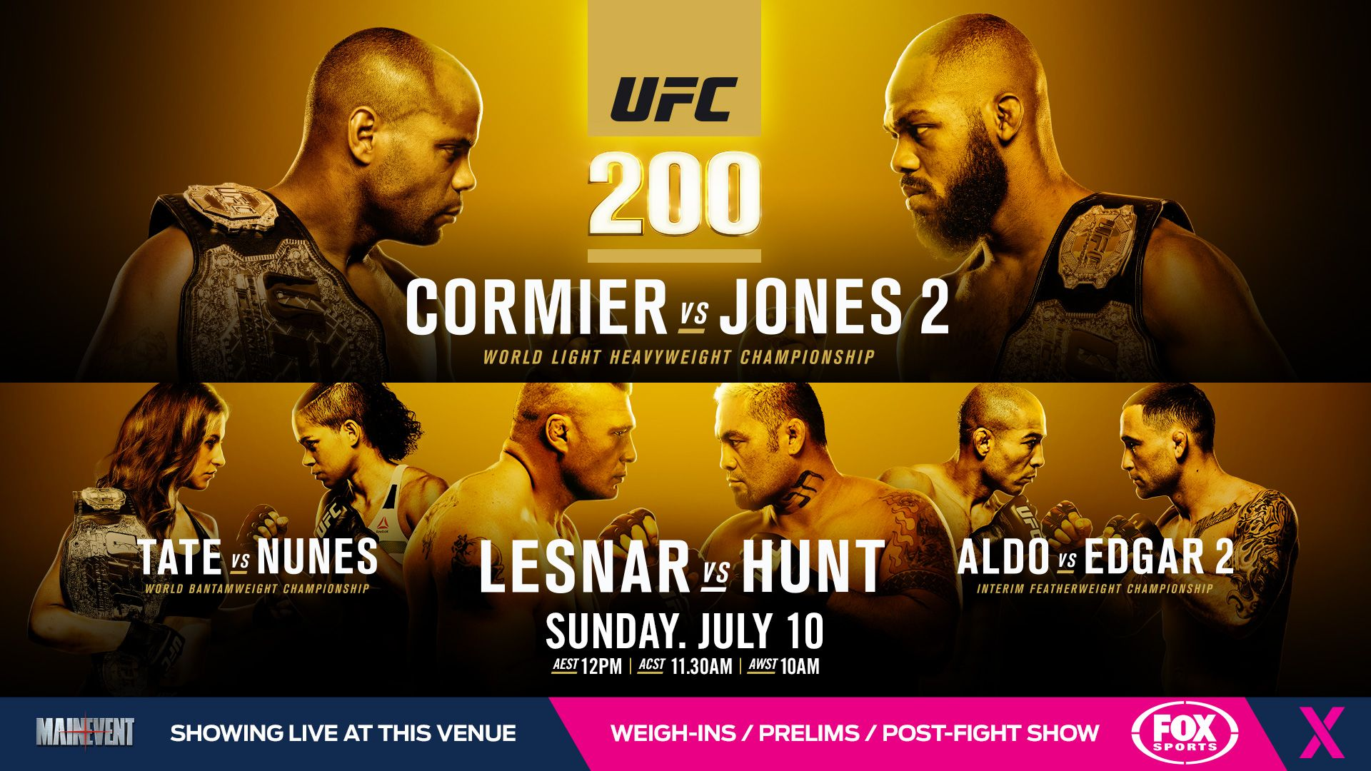 Wallpaper for UFC 200 MMA Wallpapers Pinterest UFC and MMA 1920x1080