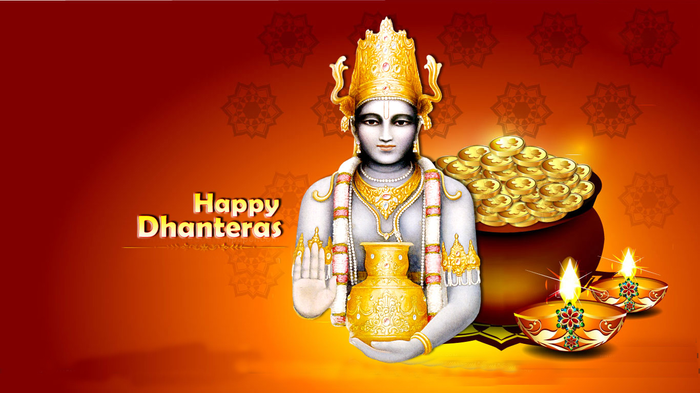 Happy Dhanteras 2015 Wishes Images Messages Shubh Muhurat 1366x768