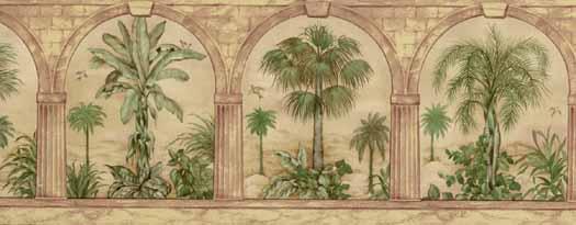 Archway Palm Tree Wallpaper Border