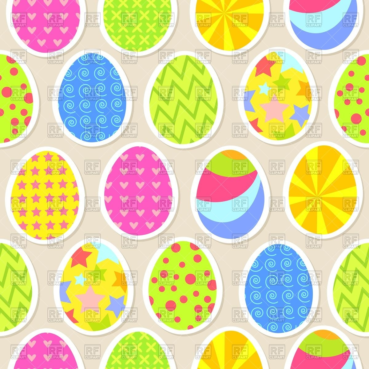Colorful easter egg seamless wallpaper Vector Image of Backgrounds 1200x1200