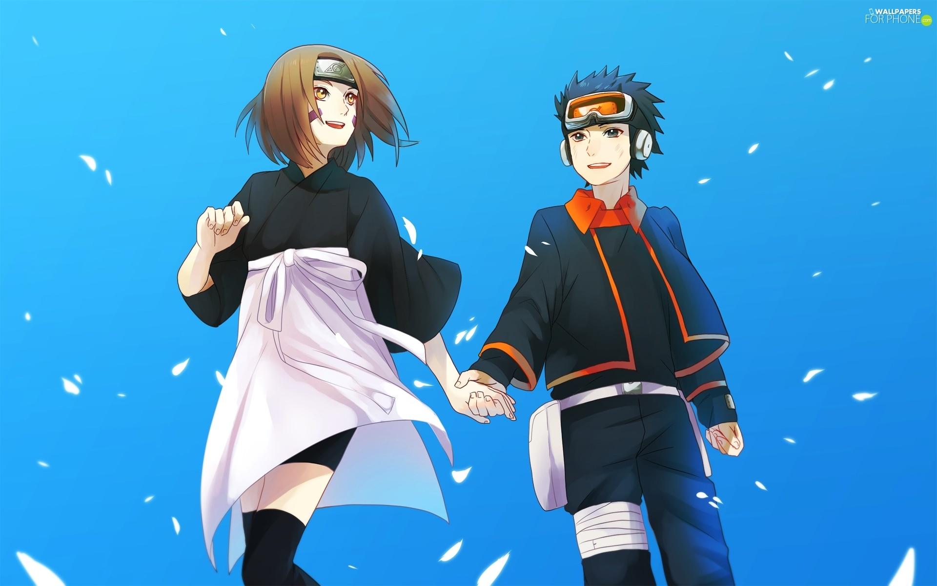 Rin Nohara Naruto Obito Uchiha   For phone wallpapers 1920x1200 1920x1200