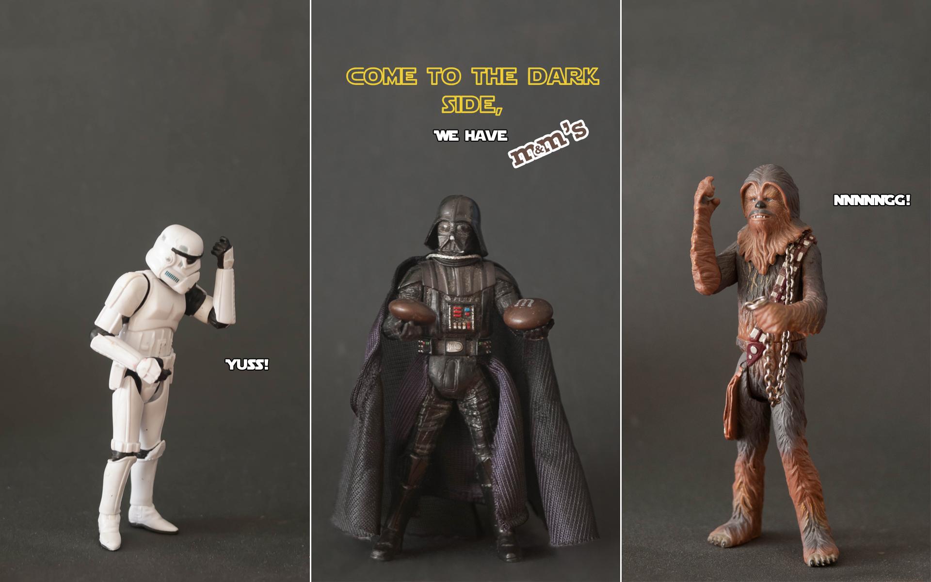 Star Wars stormtroopers Darth Vader Chewbacca wallpaper 1920x1200 1920x1200