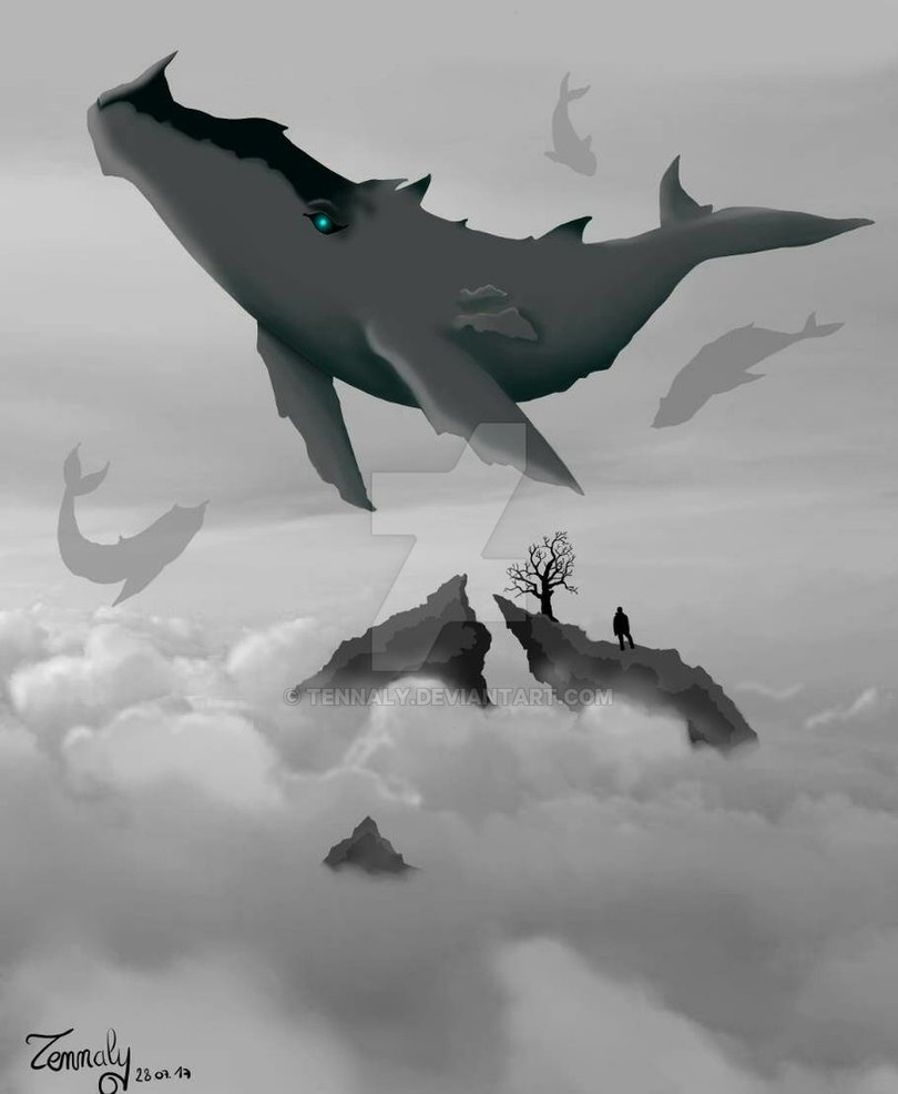 Flying Whales Gojira FanArt by Tennaly 810x986
