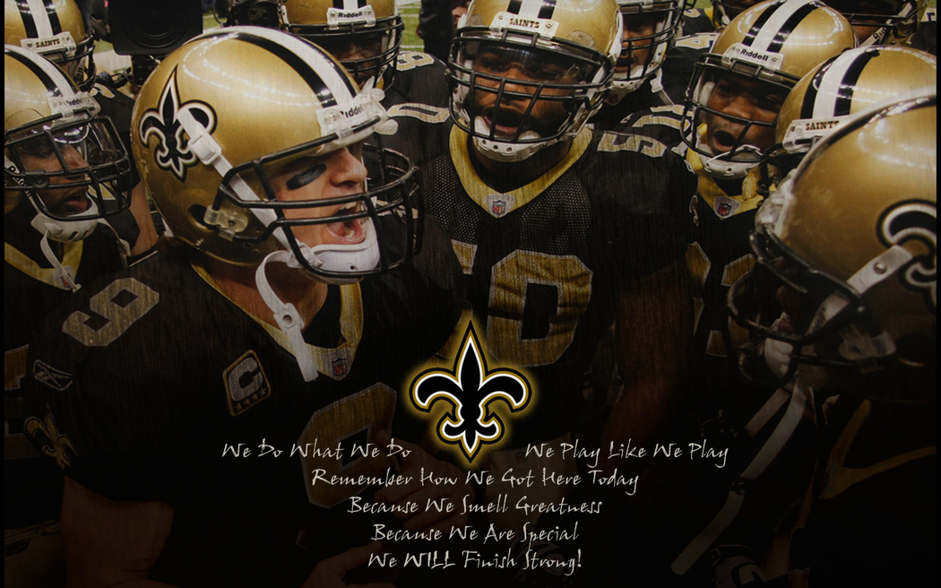 Wallpapers   NFL Saints Huddle Greatness by yurintroubl   Customize 1050x656