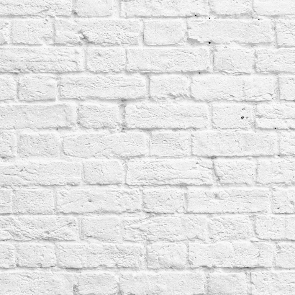 Home Wallpaper Muriva Muriva Painted White Brick Wallpaper 1000x1000