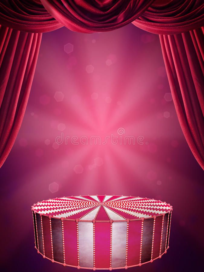 Circus stage Background with circus stage and spotlight AFF 675x900