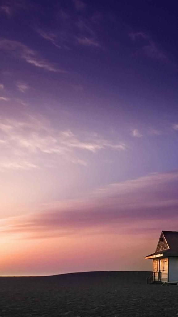 Beach House and Purple Sky wallpaper Gallery 576x1024